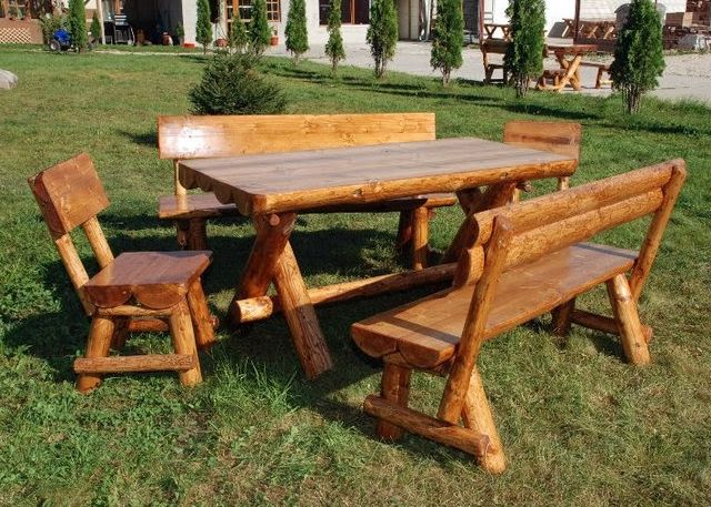 rustic garten gartenm bel aus massivholz. Black Bedroom Furniture Sets. Home Design Ideas